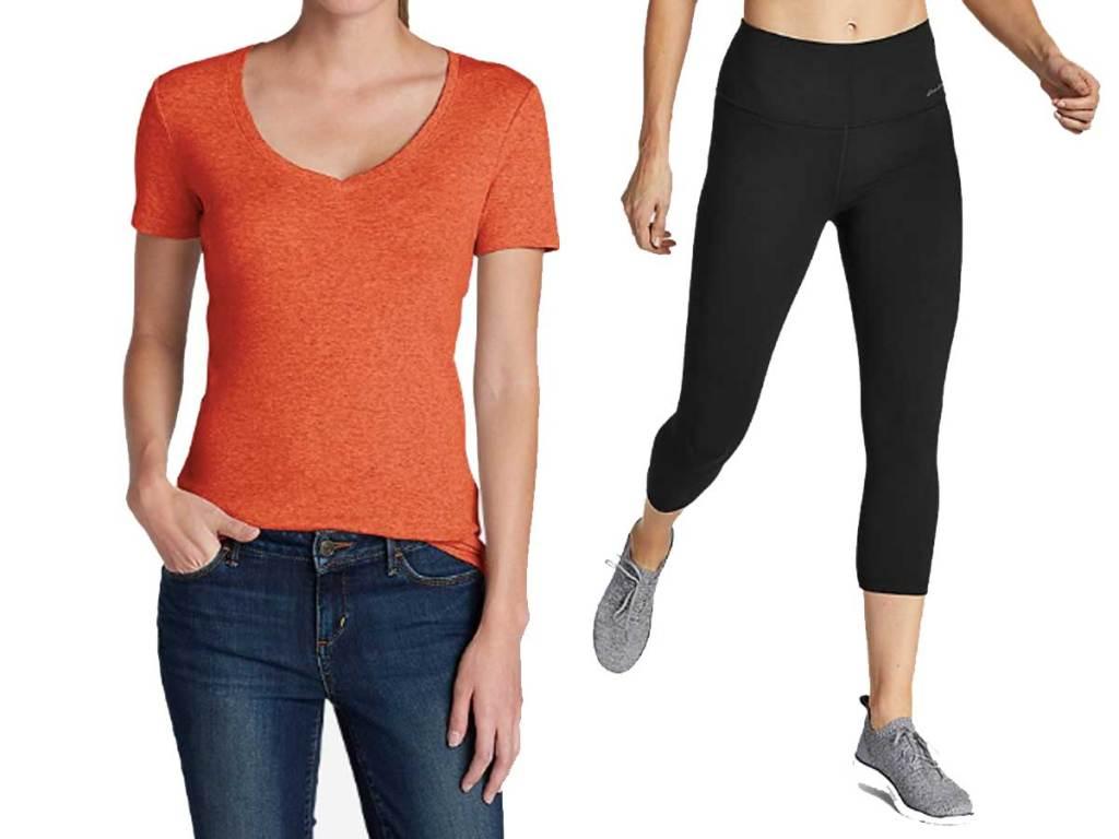 women in tshirt and leggings