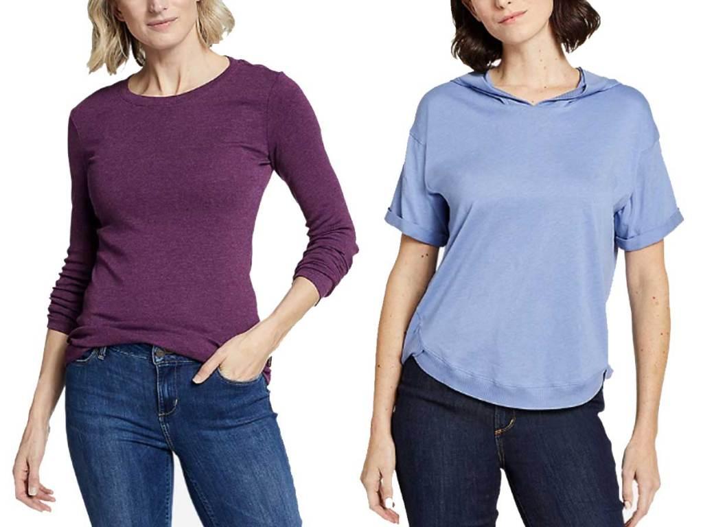 women's tshirt and hoodie