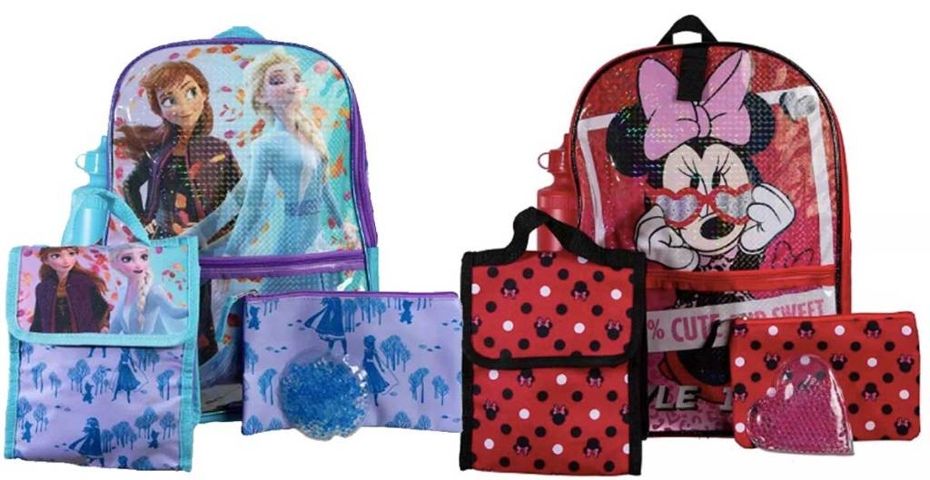 frozen and minnie backpack sets