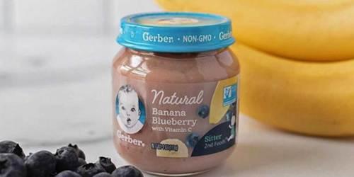 Print This Coupon NOW to Save $1/2 Gerber Natural Puree Jars