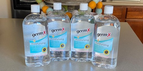 Germ-X Hand Sanitizer 32oz Bottles 4-Pack Just $11.96 on Amazon | Only $2.99 Each