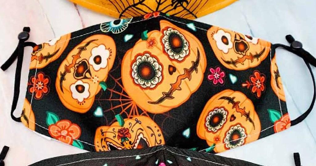 pumpkin themed Halloween mask