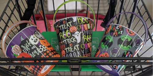 Halloween Tins, Baskets & Totes Only $1 at Dollar Tree