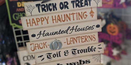 Vintage-Style Wooden Halloween Signs Only $1 at Dollar Tree | In-Store & Online
