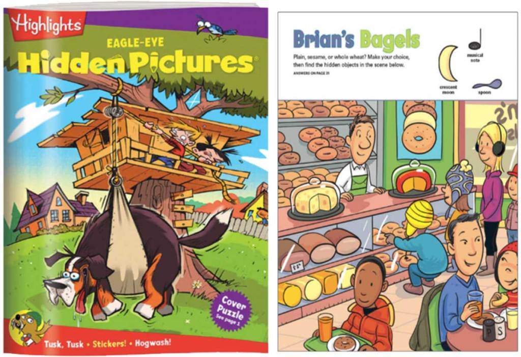 highlights hidden picture book cover and inside