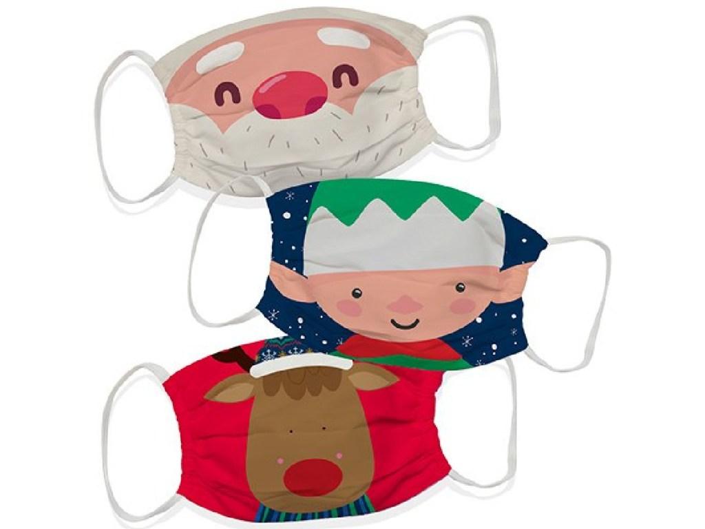 Christmas themed face masks