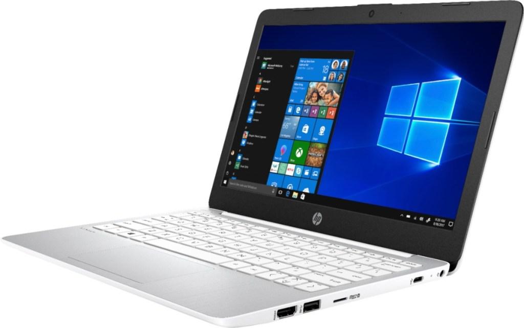 open HP Stream laptop