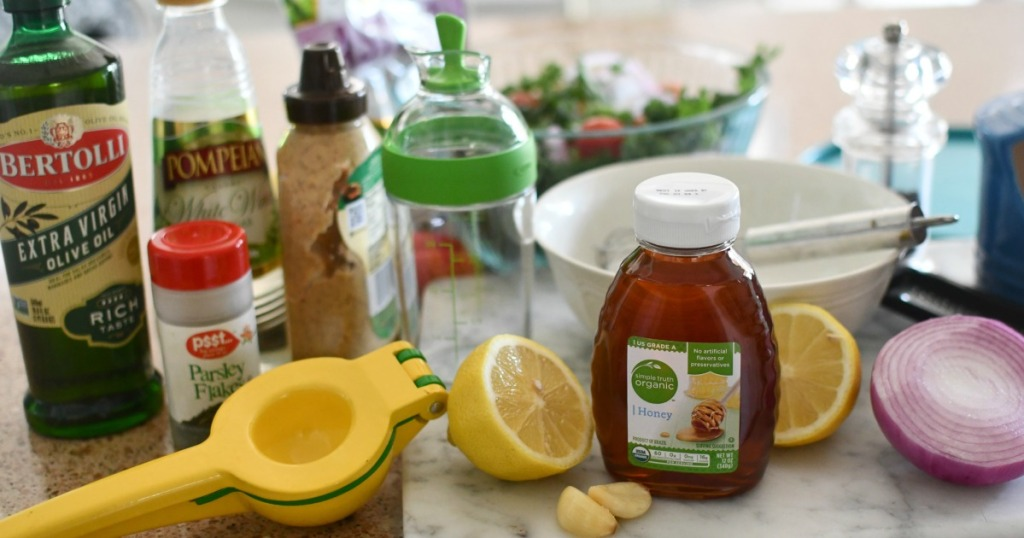 ingredients for lemon honey dressing