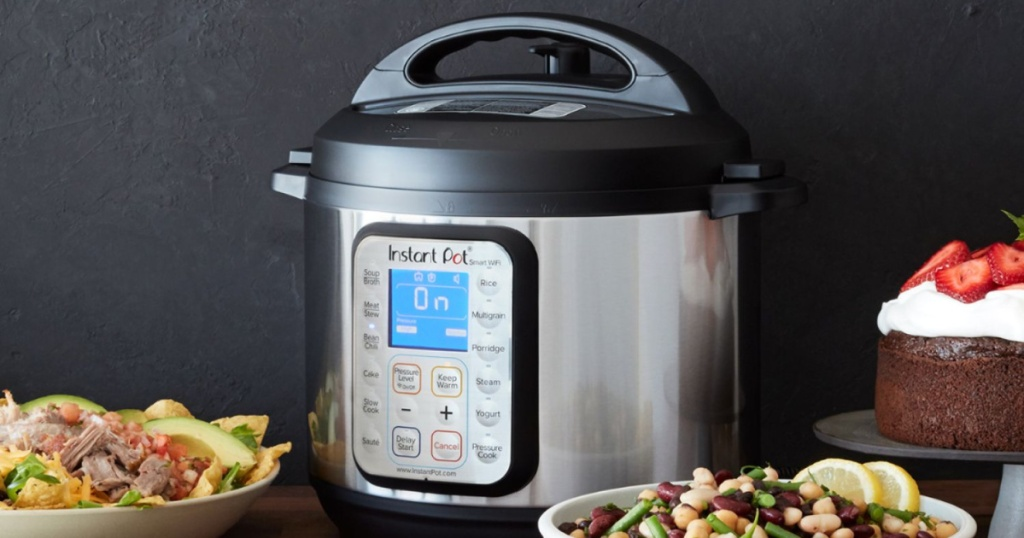Instant Pot with food around it