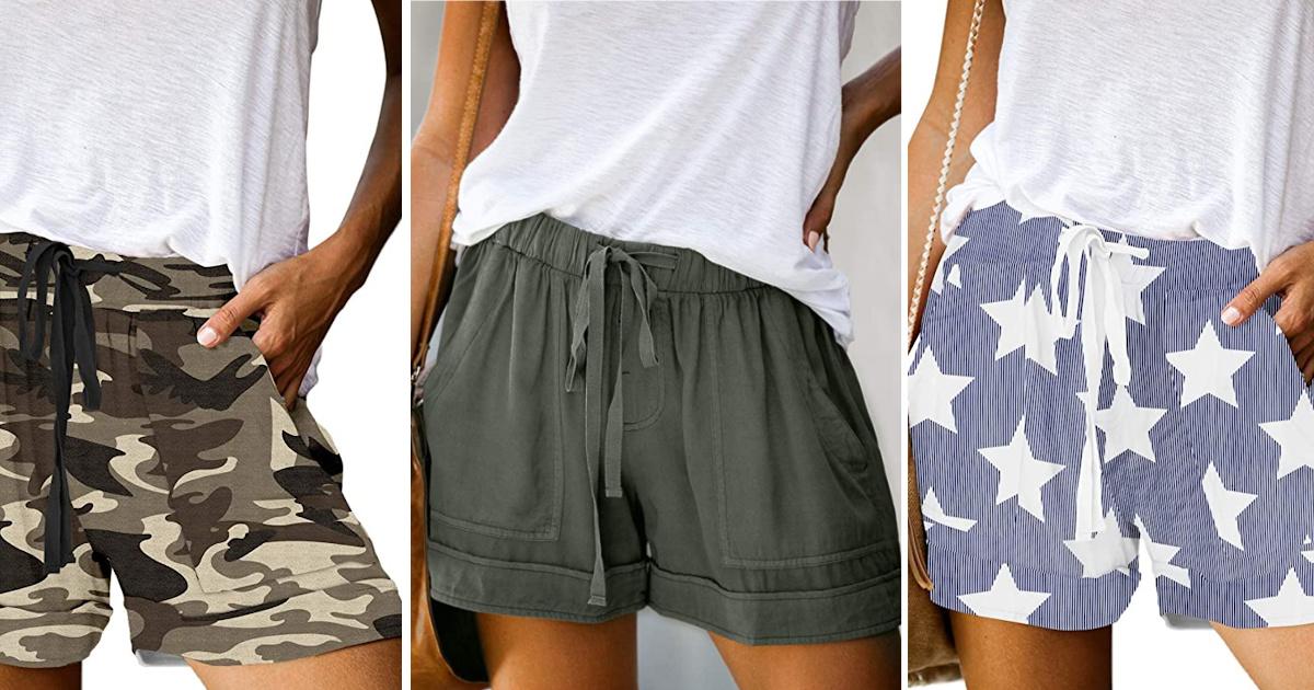 women wearing white tees and drawstring shorts