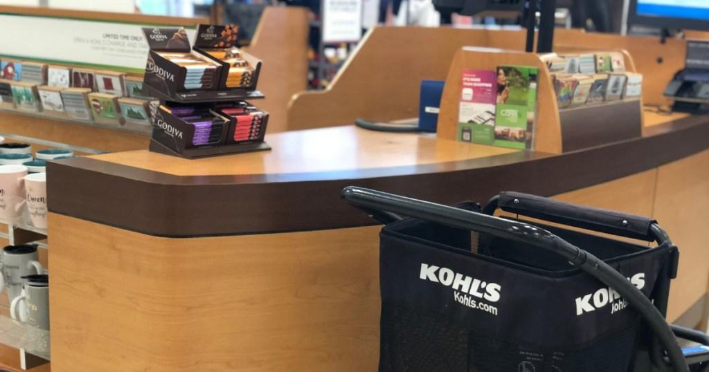 kohls shopping card at kohls checkout station
