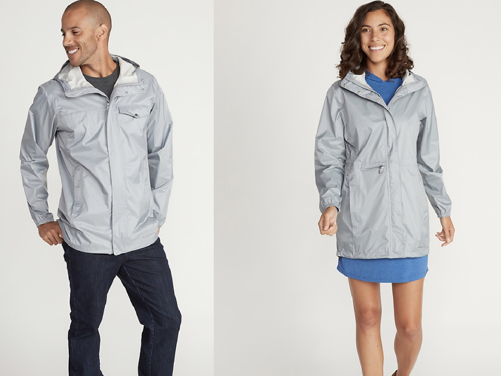 man and women wearing gray jackets