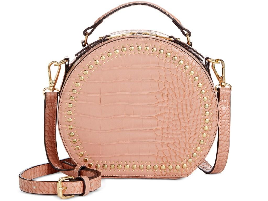pink circle handbag