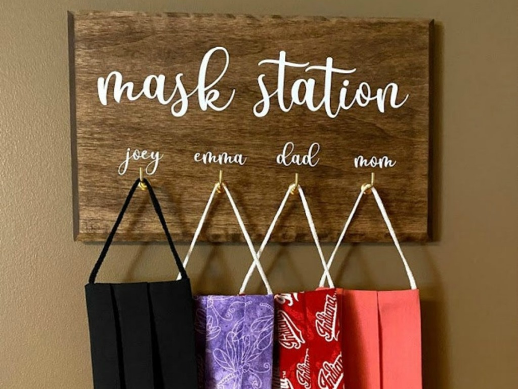 mask station example from etsy.com