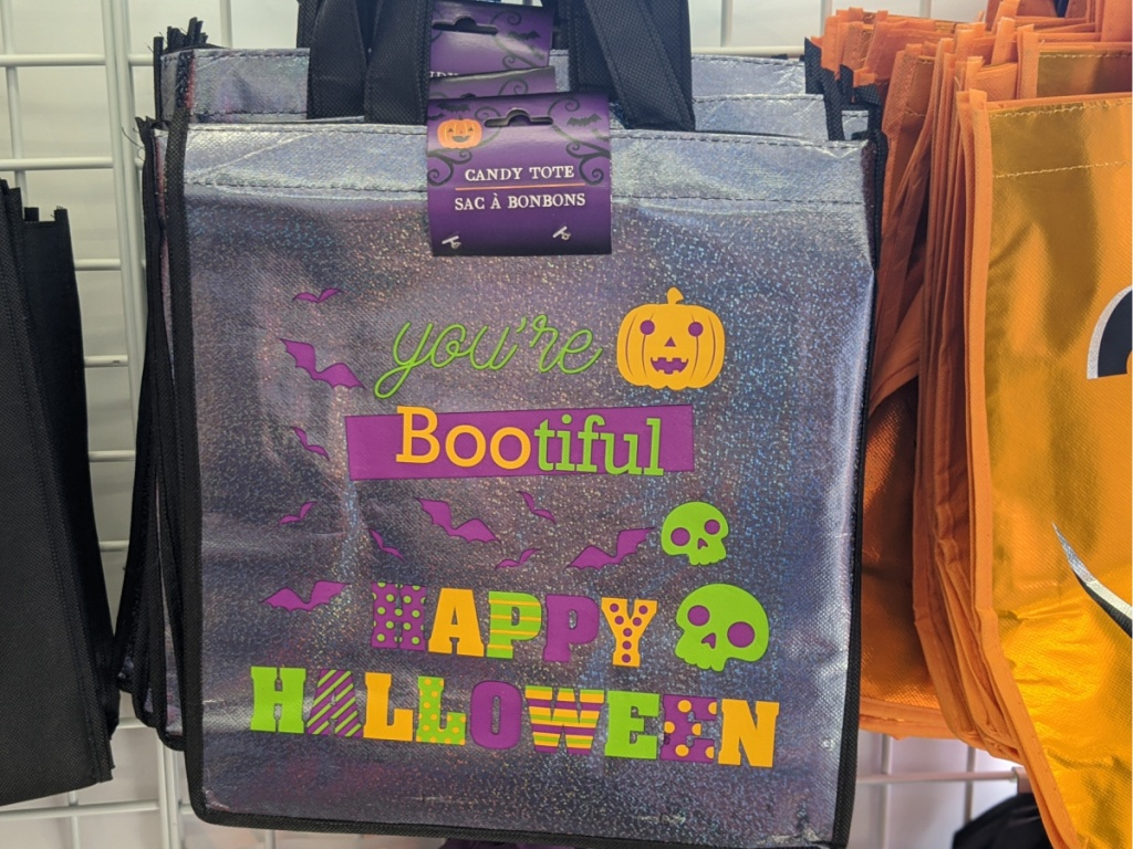 halloween bag with fun characters on it