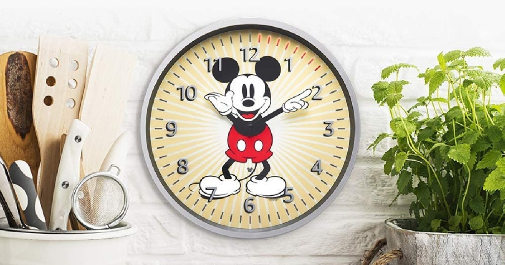 Mickey Mouse Clock Timer on wall