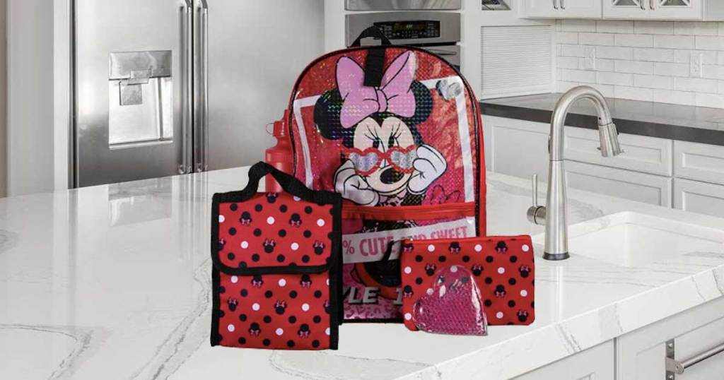 5 piece character backpack set