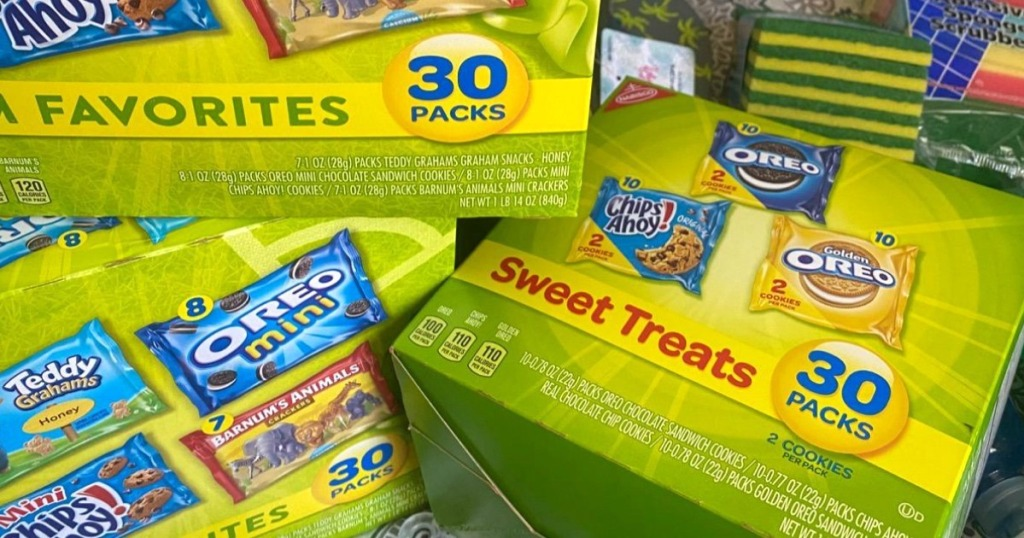boxes of Nabisco snack bags