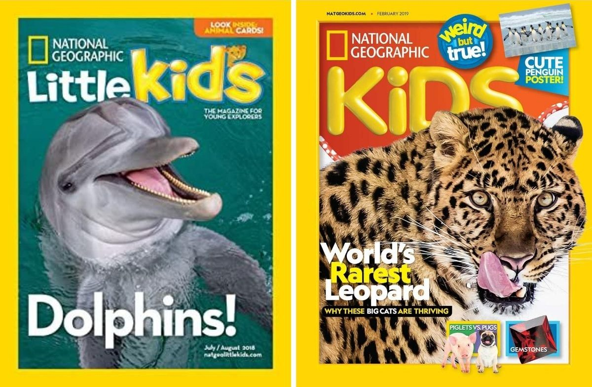 two national geographic magazines for kids