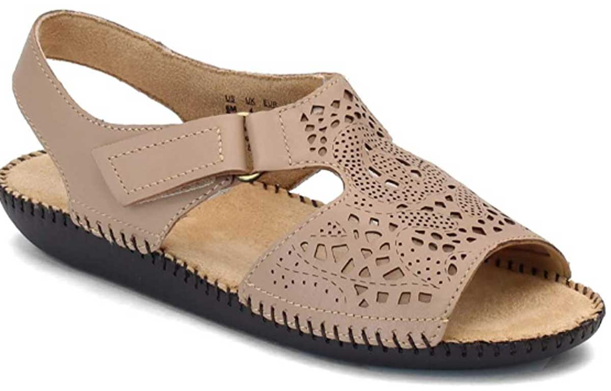 gingersnap colored ladies leather sandal