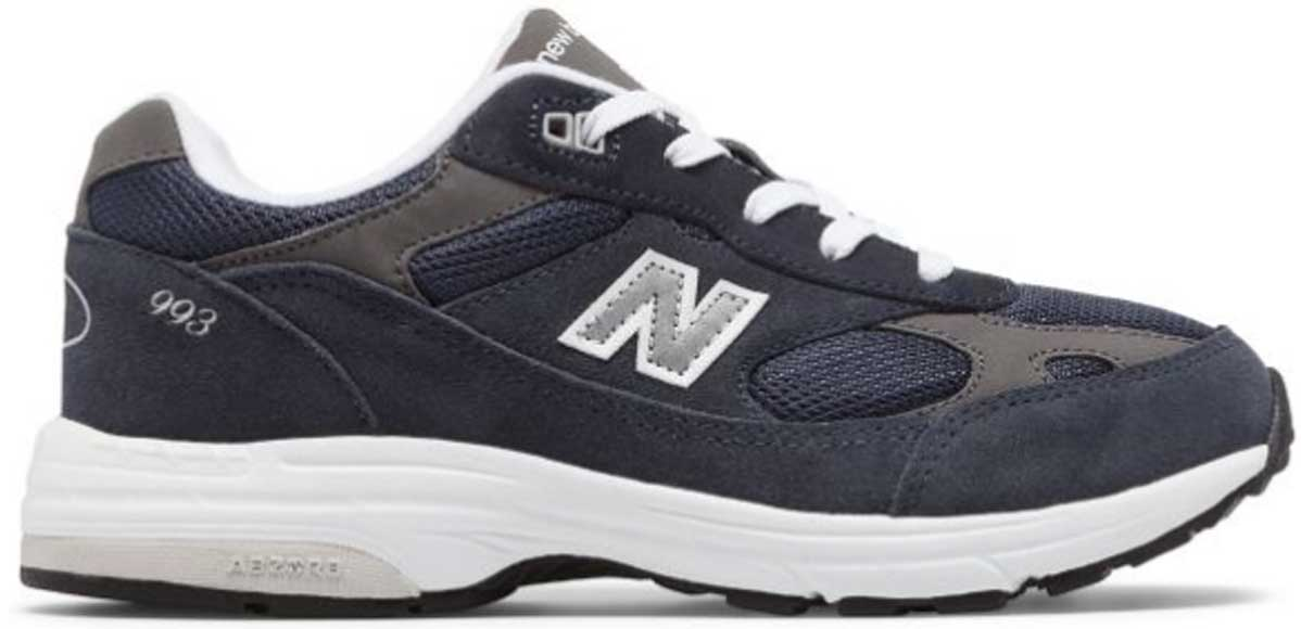 boys tennis shoe in blue and gray