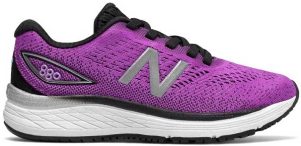 purple tennis shoe