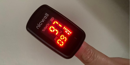This Pulse Oximeter Measures Oxygen Saturation in Seconds & is Only $17 Shipped on Amazon