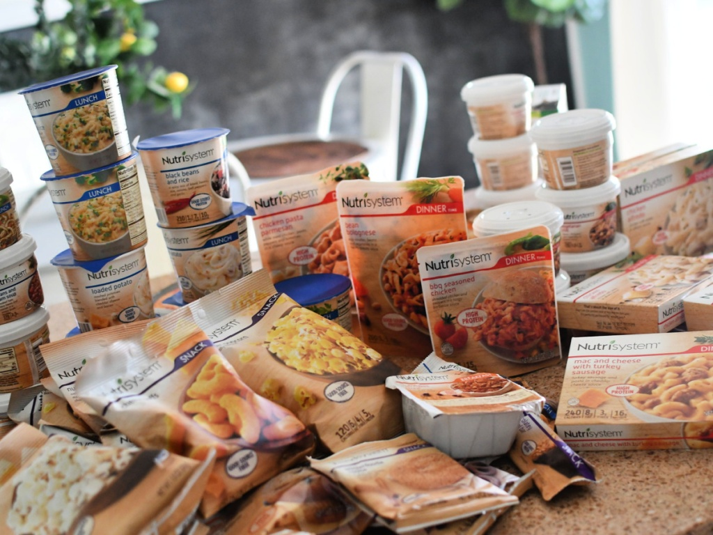 nutrisystem foods on counter