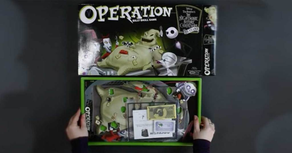 disney the nightmare before christmas operation game