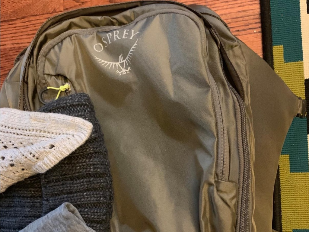 castle gray Osprey backpack