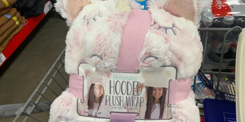 Plush Hooded Wraps Only $19.98 at Sam's Club | Unicorn, Owl & More