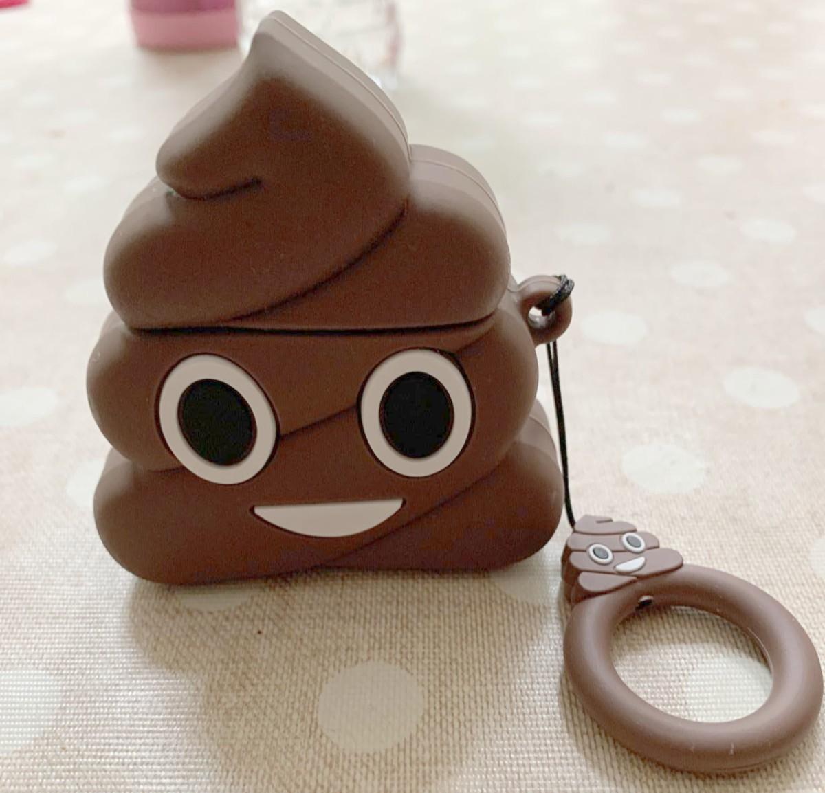 poop emoji Airpods case