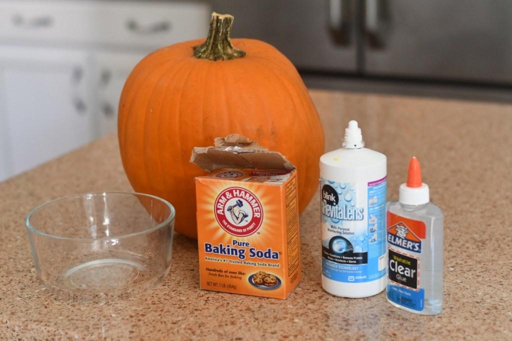 ingredients needed to make pumpkin guts slime