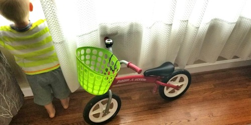 This Mom Made a DIY Kids Bike Basket Using Items from Dollar Tree