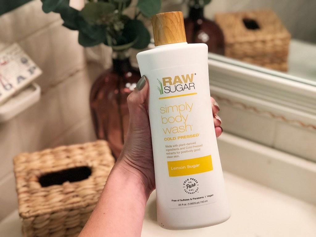 raw sugar body wash in lemon