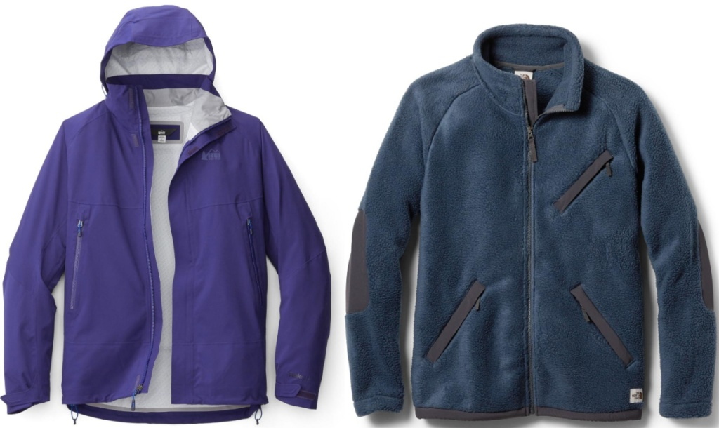 rei and the north face mens jackets