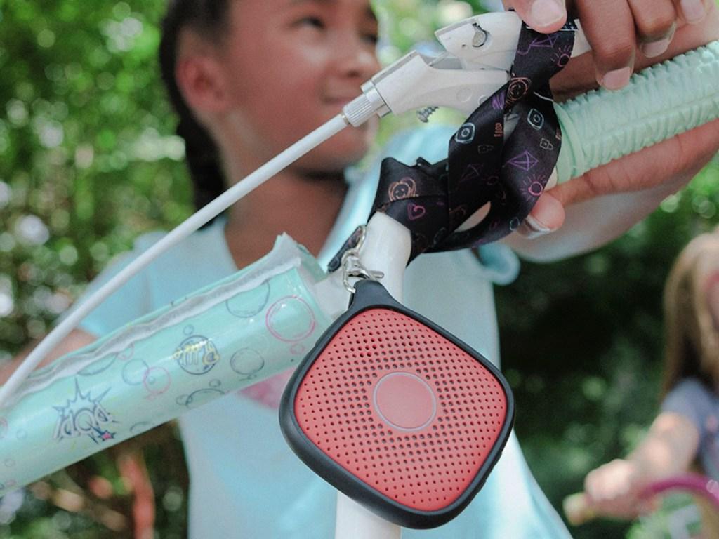 relay device on girls bike