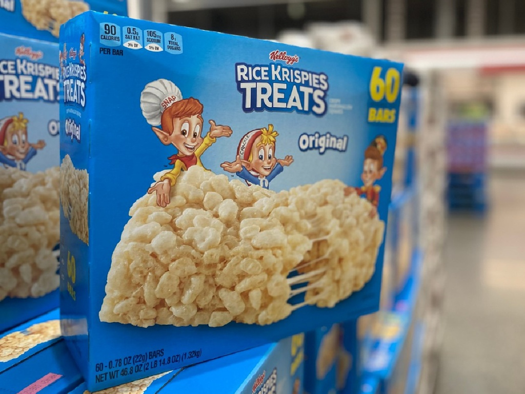 large box of snack treats on store shelf