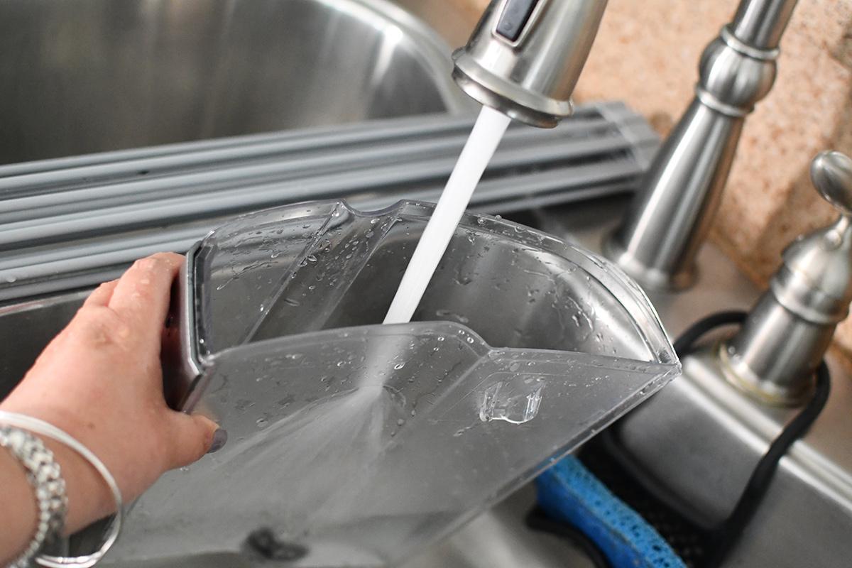 rinsing out keurig reservoir in the sink