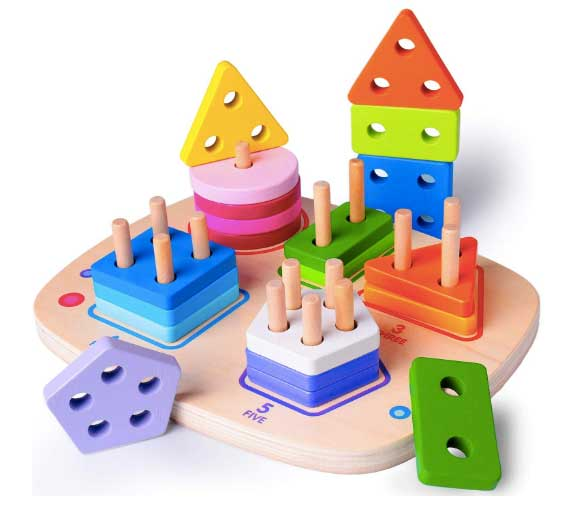 wooden shape and block sorter