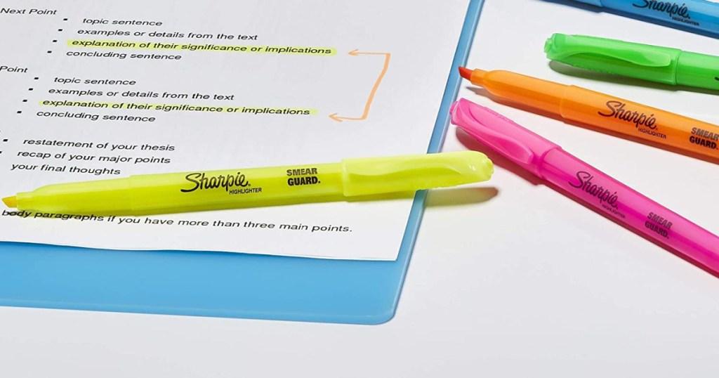 Sharpie markets and paperwork