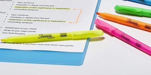 Sharpie Assorted Colored Highlighters 24-Pack Just $7.48 | Only 31¢ Each