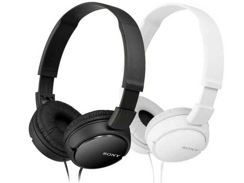 name brand headphones in black and white