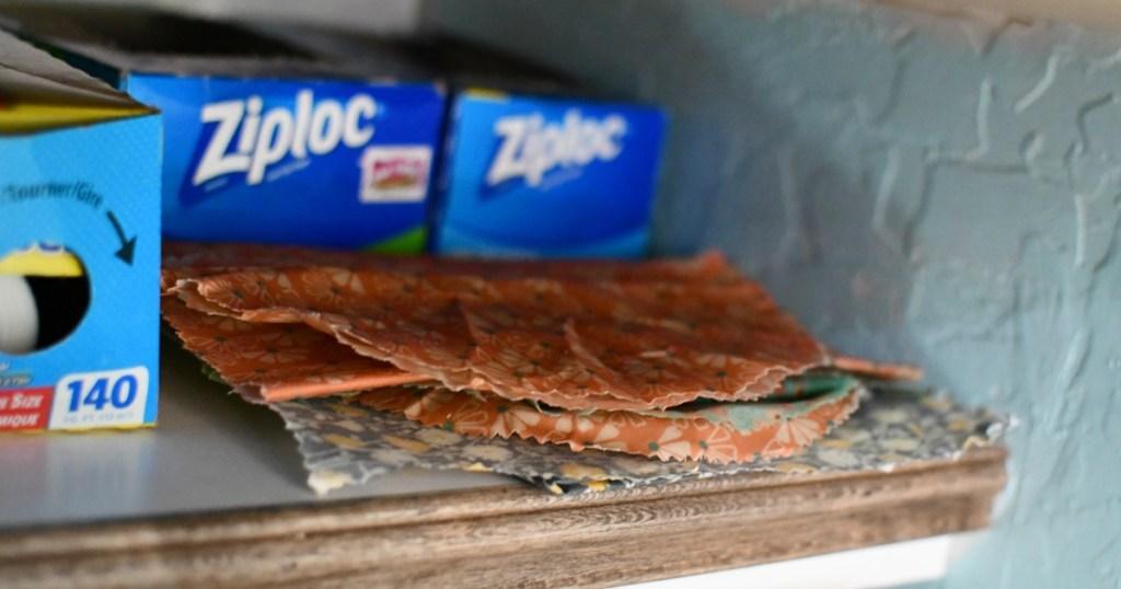 storing diy beeswax food wraps