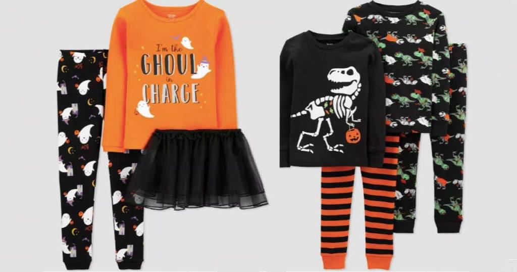 halloween kids pajamas