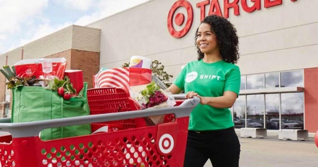 woman shopper outside of store