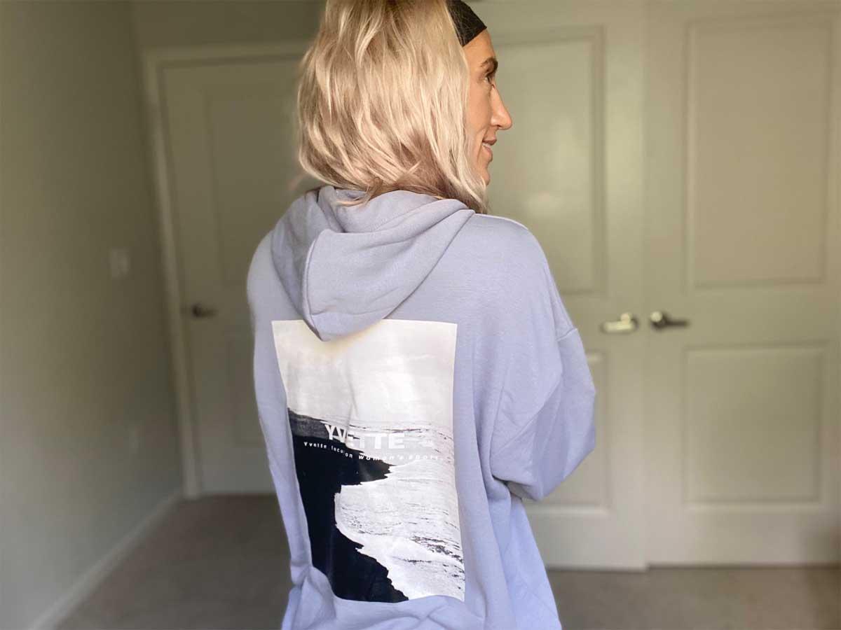 woman wearing a hoodie