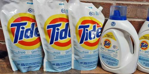 $15 off $50 Amazon Household Products = Tide 48oz Pouches Just $4.33 Each Shipped
