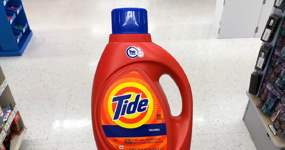 orange Tide bottle in store