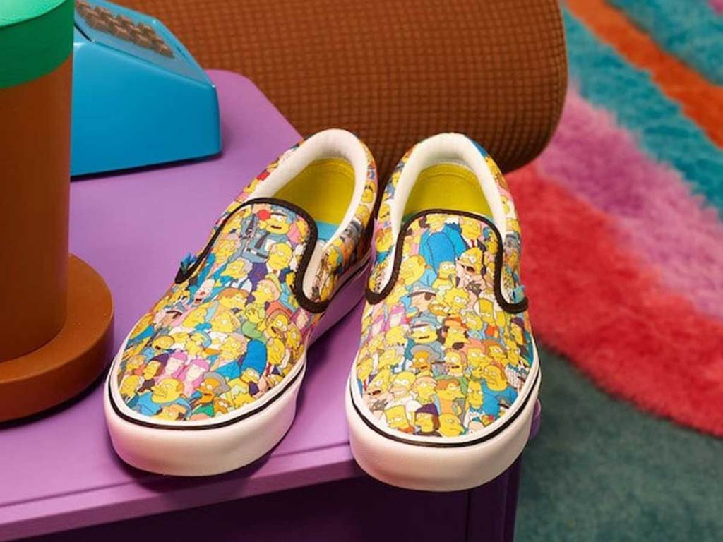 pair of shoes with tv show characters